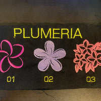 3D Embroidery Mask - Plumeria
