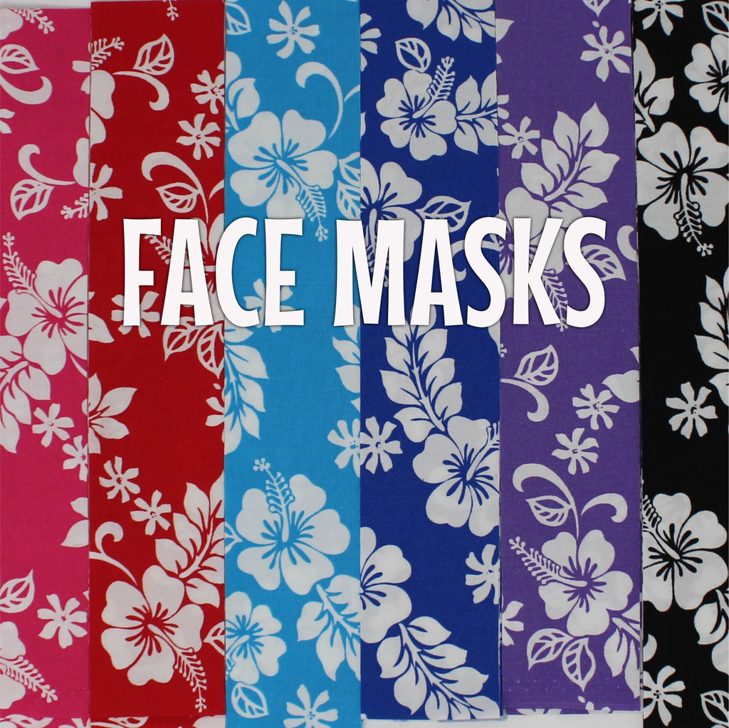 Classic White Hibiscus - Cloth Face Mask