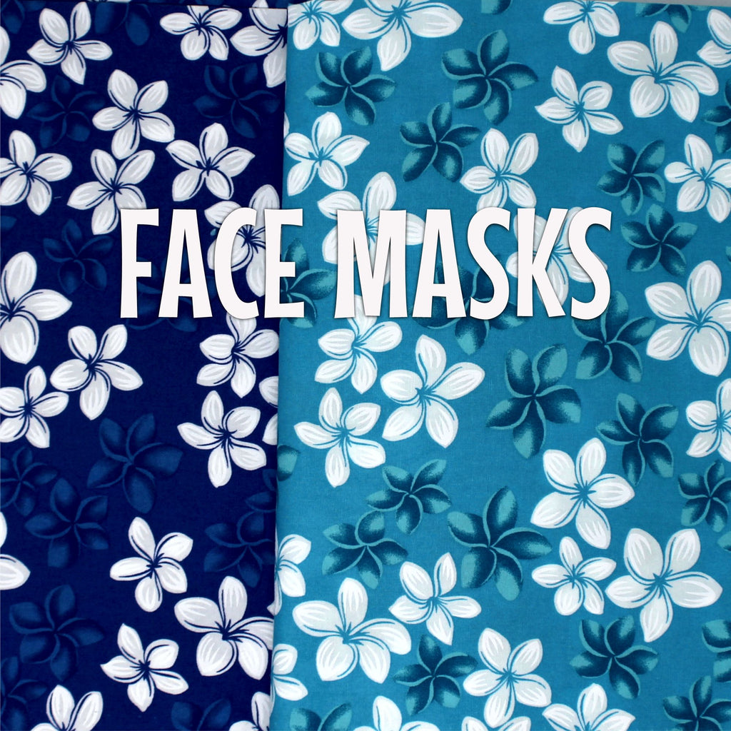 Classic White Plumeria - Cloth Face Mask