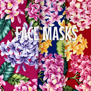 Plumeria Multi Color - Cloth Face Mask