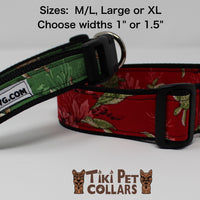 Turtles - Honu Dawg Collar - Tiki Pet Collars made on Kauai, Hawaii