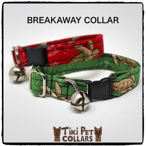 Turtles - Honu Kitti Collar - Tiki Pet Collars made on Kauai, Hawaii