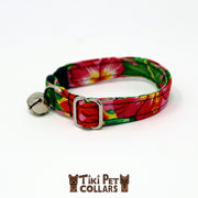 Heliconia Tropical Garden Kitti Collar - Tiki Pet Collars made on Kauai, Hawaii