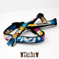 Plumeria Multi and Tiare White (lei) Harness - Tiki Pet Collars made on Kauai, Hawaii