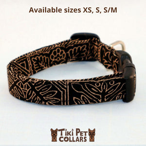 Tapa Design - Quilt Dawg Collar - Tiki Pet Collars made on Kauai, Hawaii
