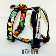Heliconia Tropical Garden Harness - Tiki Pet Collars made on Kauai, Hawaii