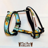 Pineapples - Vintage Harness - Tiki Pet Collars made on Kauai, Hawaii