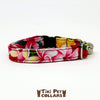 Plumeria Multi Color Kitti Collar - Tiki Pet Collars made on Kauai, Hawaii