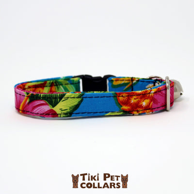 Pineapples - Mai Tai Kitti Collar - Tiki Pet Collars made on Kauai, Hawaii