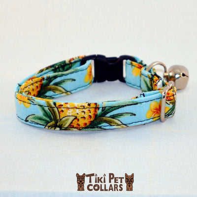 Pineapples - Vintage Kitti Collar - Tiki Pet Collars made on Kauai, Hawaii