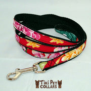 Plumeria Multi Color Leash - Tiki Pet Collars made on Kauai, Hawaii