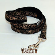 Tapa Design - Quilt Leash - Tiki Pet Collars made on Kauai, Hawaii