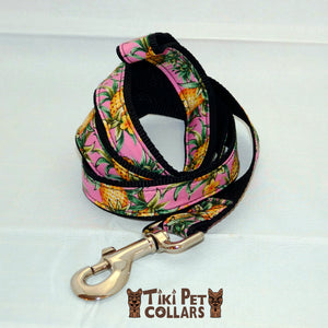 Pineapples - Vintage Leash - Tiki Pet Collars made on Kauai, Hawaii