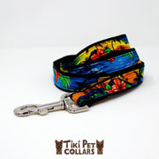 Hawaiian Sunset Leash - Tiki Pet Collars made on Kauai, Hawaii
