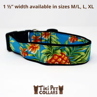 Pineapples - Mai Tai Dawg Collar - Tiki Pet Collars made on Kauai, Hawaii