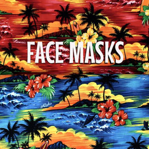 Hawaiian Sunset - Cloth Face Mask (blue only)
