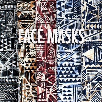 Tapa Design - Cracked Effect Cloth Face Mask