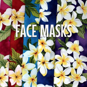 Classic White Yellow Plumeria - Cloth Face Mask