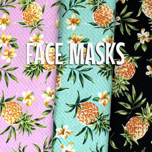 Pineapples and Plumerias - Cloth Face Mask