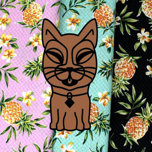 KITTI Collar - Pineapples and Plumerias