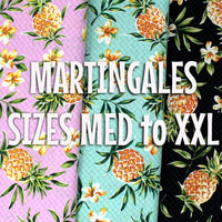 Pineapples and Plumerias Martingale Dawg Collar