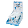 """FREE 100 COUNT DISPENSER WITH PURCHASE"" Point Relief® ColdSpot™ Lotion - Retail Display with 4 x 3 oz Spray, 3 oz Roll-on and 4 oz Gel:"