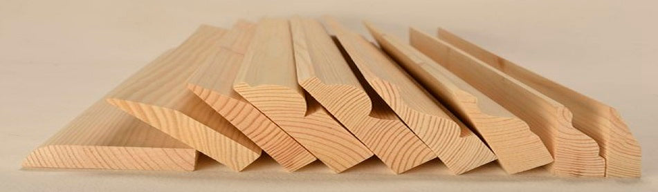 a selection of softwood skirting and architraves