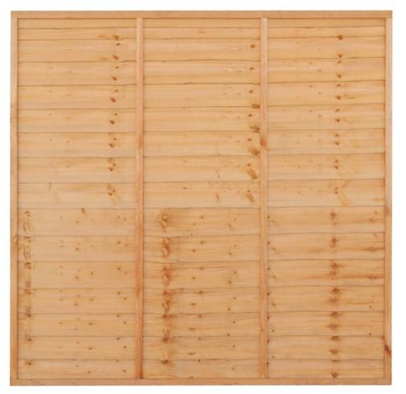 Grange Superior Trade Lap Fence Panel Golden Brown 1830 x 1500mm
