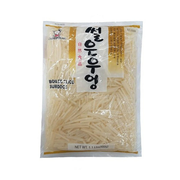 Boiled Slice Burdock 썰은 우엉 500g