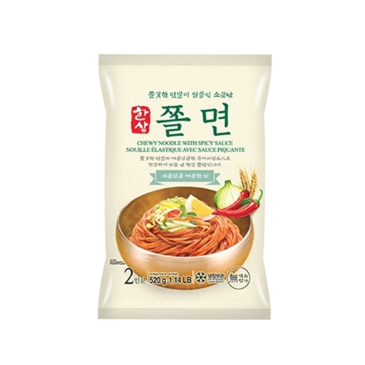 Chewy Noodle with Spicy Sauce 한상 쫄면 520g