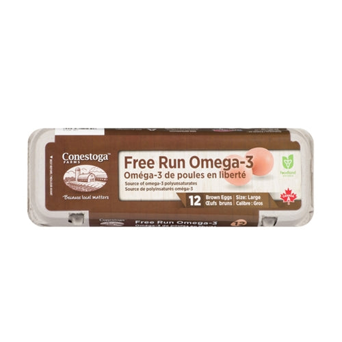 Free-Run Omega 3 Large Brown Eggs 자연방사 오메가 3 갈색란 12 each