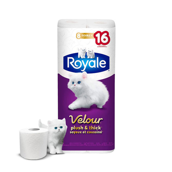 Royale Velour Bathroom Tissue 화장실 휴지 8 Rolls