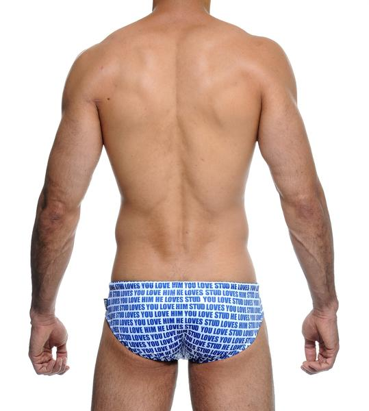 DECCA SWIM BRIEF - BLU/WHT