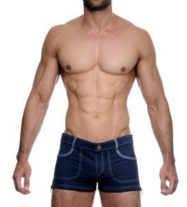 TOMA SHORTY SHORTS - DENIM BLUE