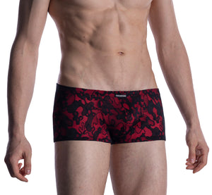 M2006 LACY MICRO PANTS - BLACK RED