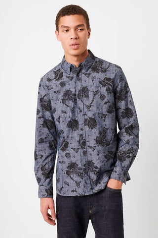PRINTED WORKWEAR SHIRT - CHAMBRAY
