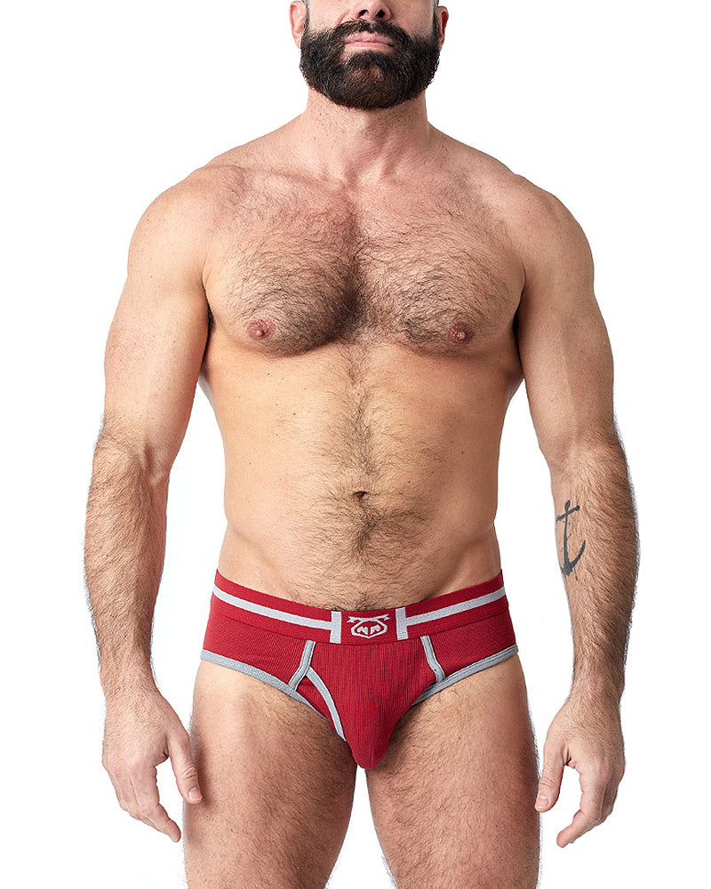 BRAD BRIEF - RED/GREY