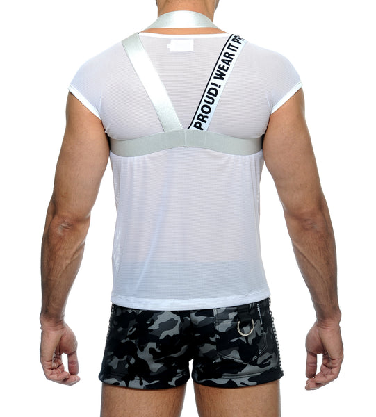 ALLOY HARNESS TEE COMBO - WHITE