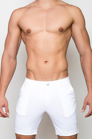 S61 BONDI SHORTS (LONG) - WHITE