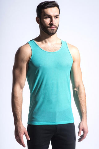 HONEYCOMB MESH PERFORMANCE TANK - AQUA