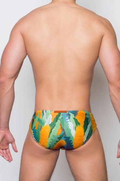 V10 BANKSIA SWIM BRIEF - LEAF