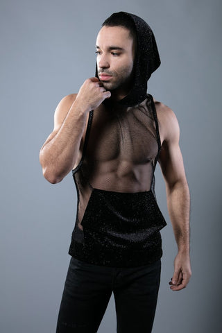 DARK MATTER HOODED TANK - BLK