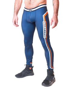 COLLIDER TIGHTS - NAVY/ORANGE