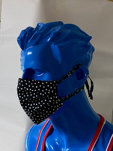 SURGICAL STYLE FABRIC MASK - DOTS