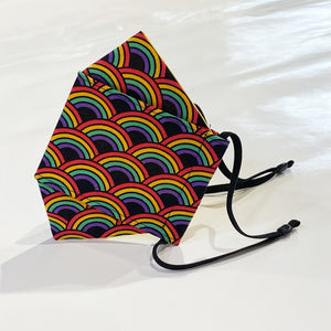 FOLDING STYLE MASK - RAINBOW PRINT