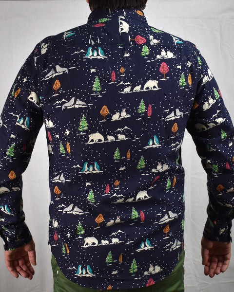 SPACE CAMPING LS SHIRT - NAVY