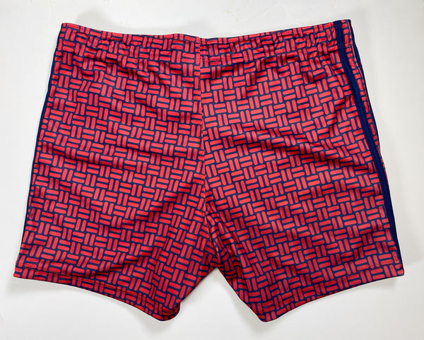 FLOORING SWIM SHORT - RED/NAVY