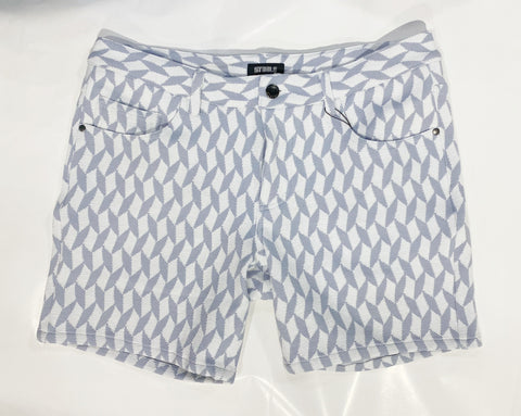 "5"" GEO HERRINGBONE KNIT SHORT - CLOUD BLUE"