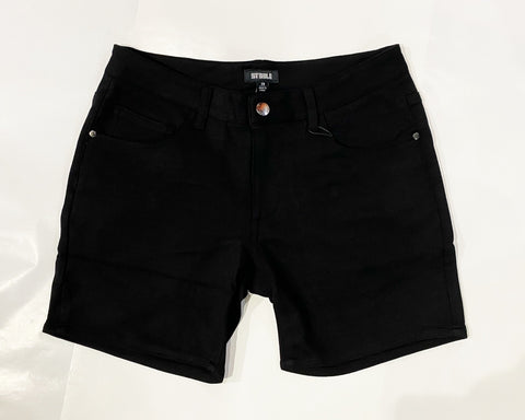 "5"" KNIT JEAN SHORT - BLK"