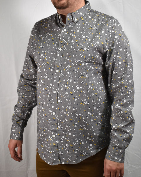 STEELE MAGNOLIA LS SHIRT - GREY